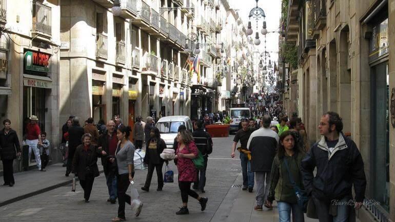 Barcelona-Wochenende-Innenstadt