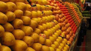 Barcelona-Wochenende-Markt-Zitronen