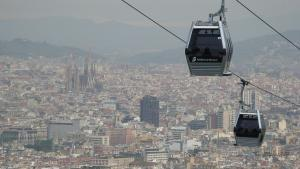 Barcelona-Wochenende-Montjuic-Seilbahn