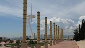 Barcelona-Wochenende-Olympiastadion-Vorplatz