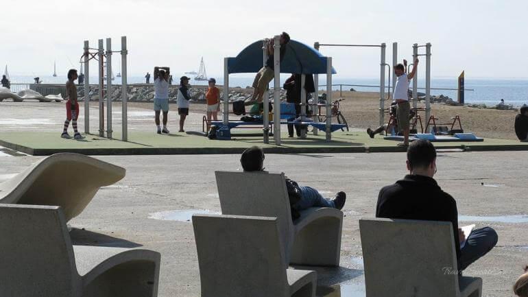 Barcelona-Wochenende-Strand-Sport