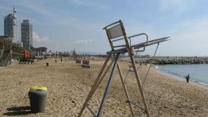 Barcelona-Wochenende-Strand-Stuhl