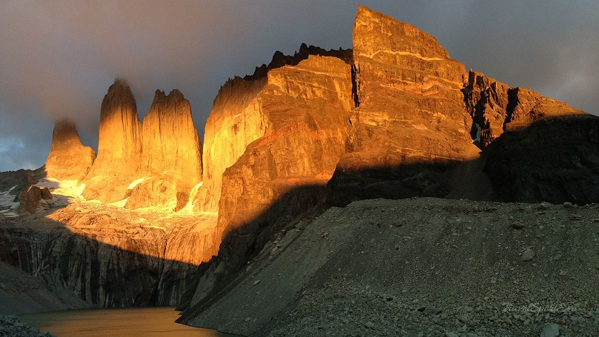 Nationalpark Torres Del Paine Sonnenaufgang