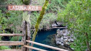 Vulkan Villarrica Laguna Azul