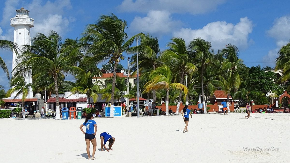 cancun mexiko isla mujeres volleyball
