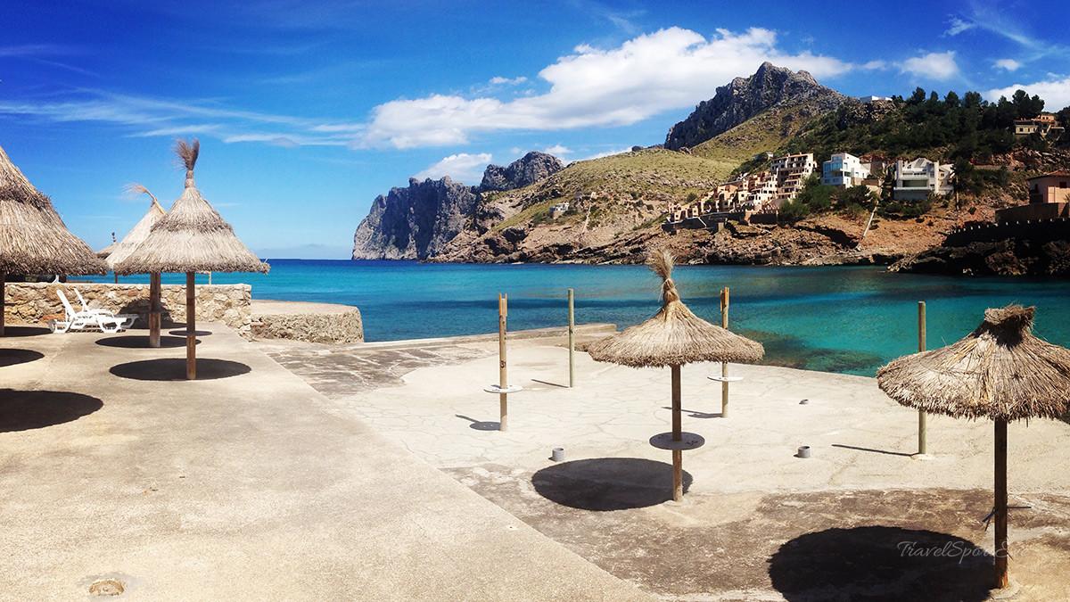 Radfahren auf Mallorca Strand Cala Sant Vincenc