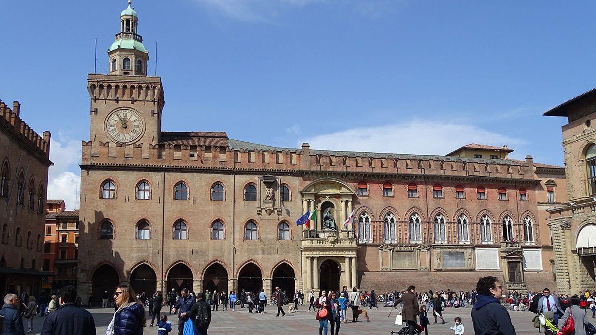 Bologna Italien Piazza Maggiore