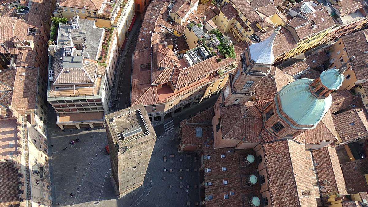 Bologna Italien Ausblick vom Torre Asinelli