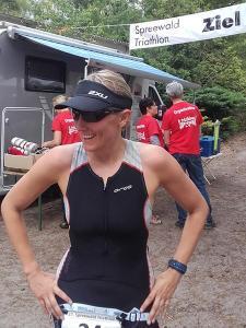 Spreewald Triathlon Ziel Eve