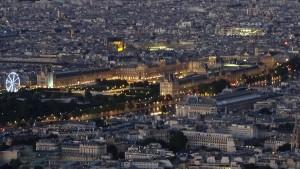 Paris von oben Aussicht Eiffelturm Louvre
