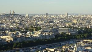 Paris von oben Aussicht Eiffelturm Sacre Coeur