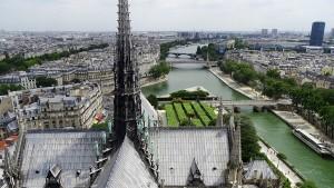 Paris von oben Aussicht Notre Dame Seine