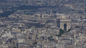 Paris von oben Montparnasse Arc de Triomphe