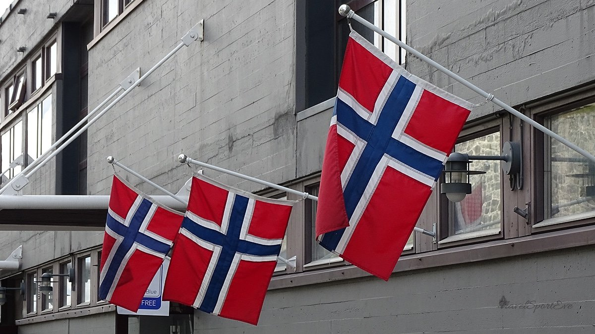Radfahren-in-Norwegen-Fahne