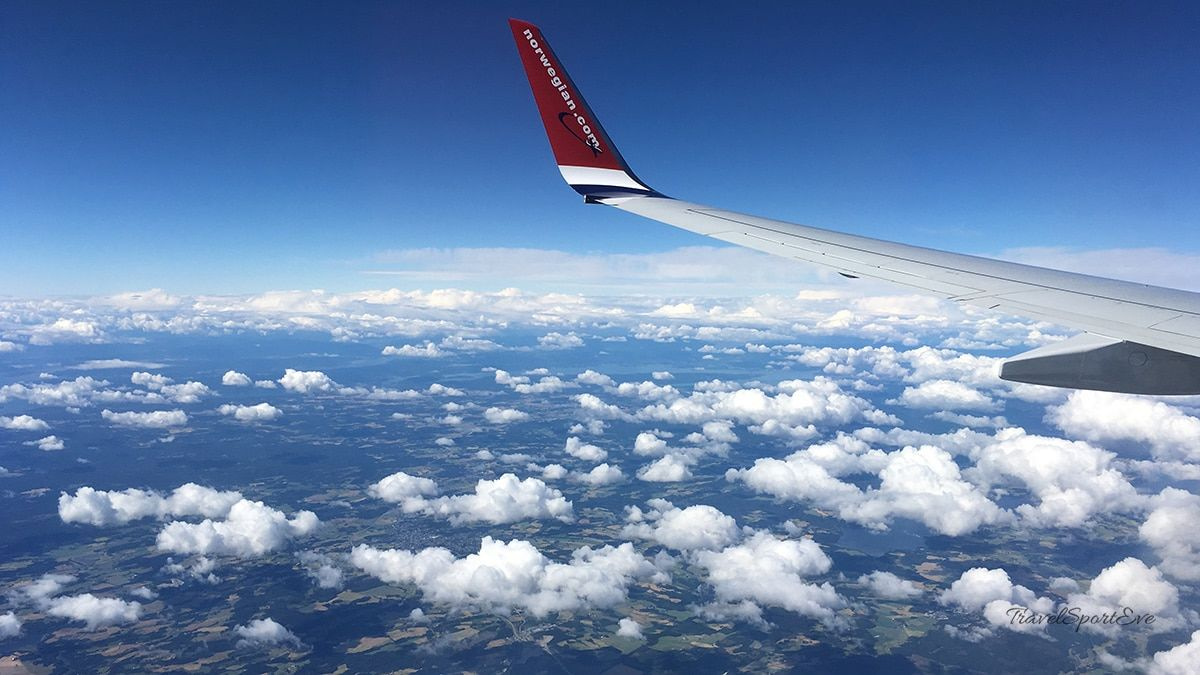 Radfahren in Norwegen Flug