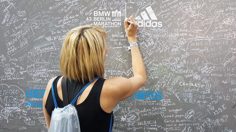 Berlin Marathon 2016 Wall