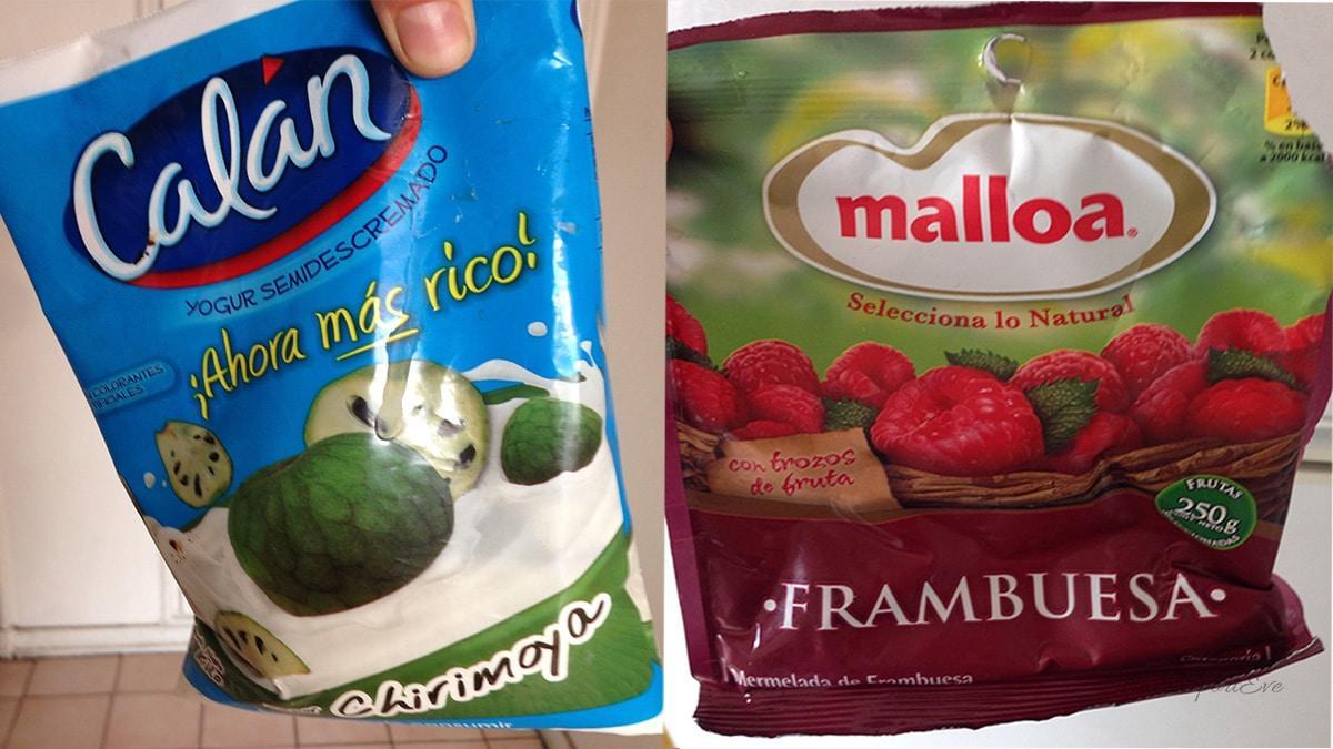 Reisetipps für Chile Marmelade und Joghurt in Tüten