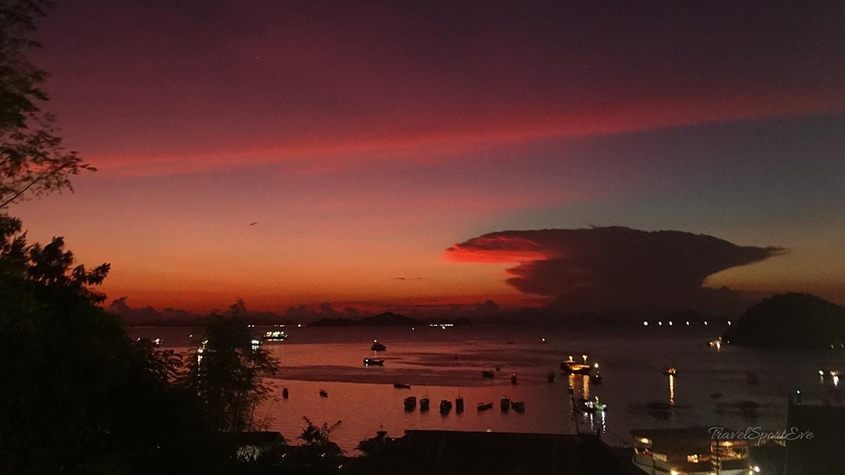 Sonnenuntergang Labuan Bajo Flores Indonesien