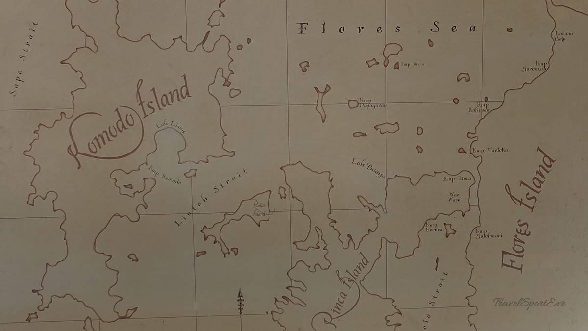 Komodo Island Indonesien Karte