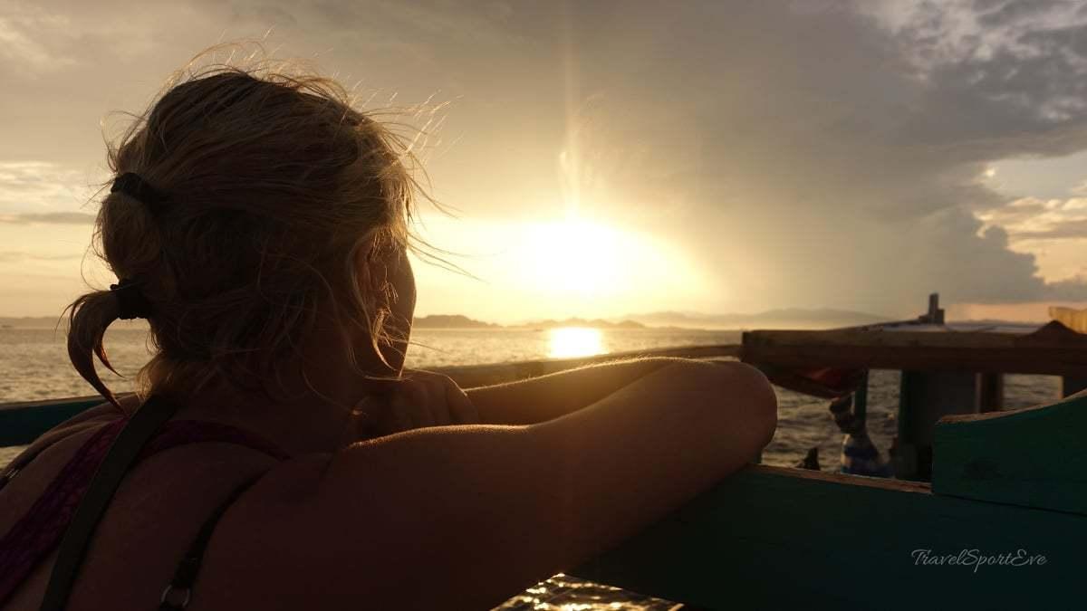 Komodo Island Indonesien Sonnenuntergang