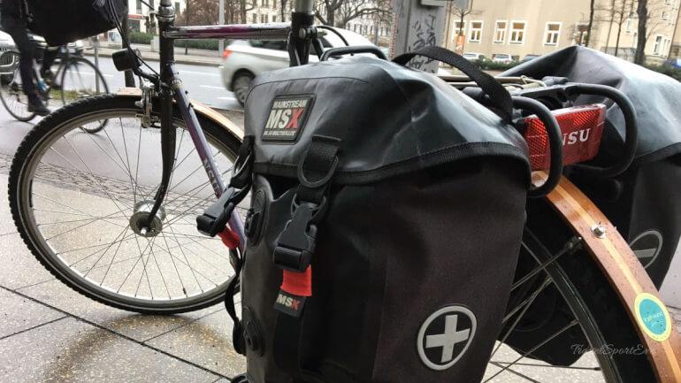 Urlaub mit dem Fahrrad Gepäckträgertasche