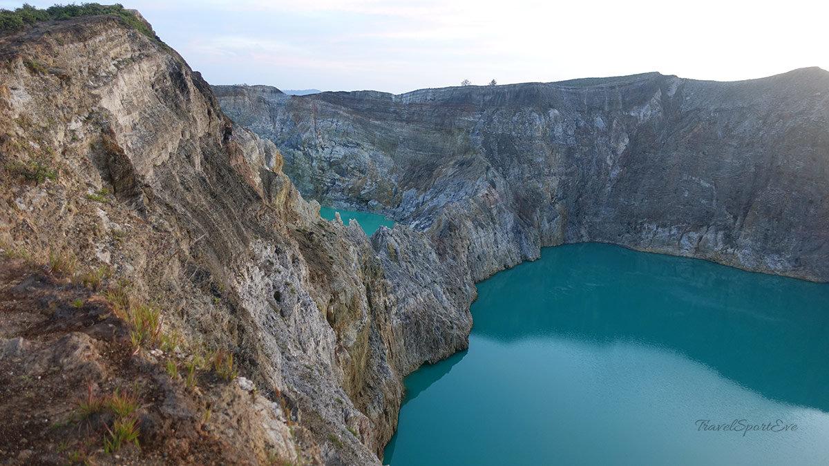 Besteigung Vulkan Kelimutu Flores Indonesien Kraterseen
