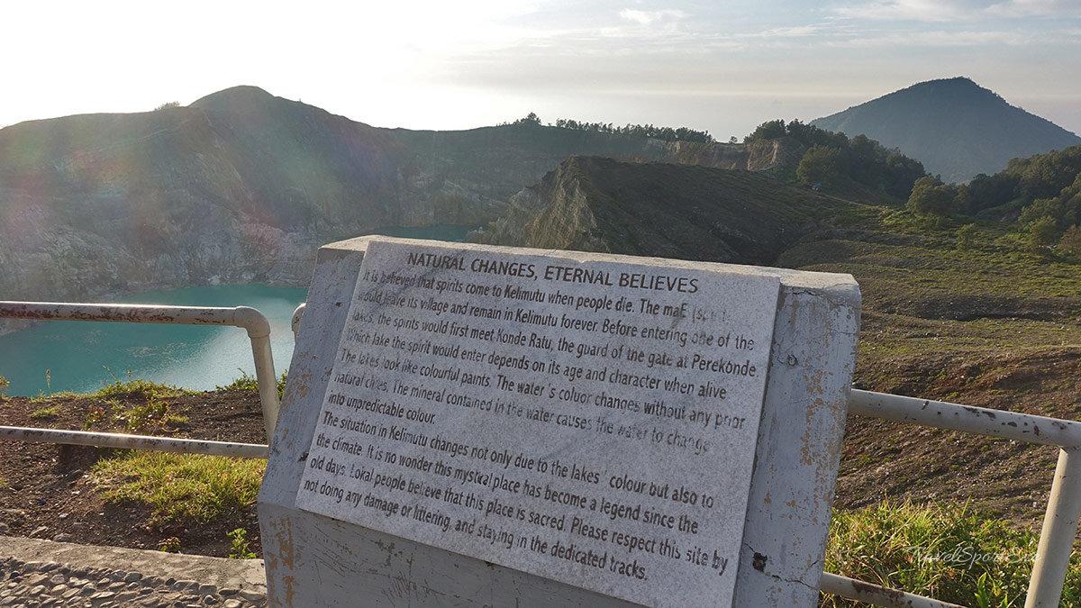 Besteigung Vulkan Kelimutu Flores Indonesien - Glaube