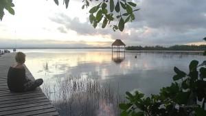 Laguna Bacalar Mexiko Sonnenaufgang