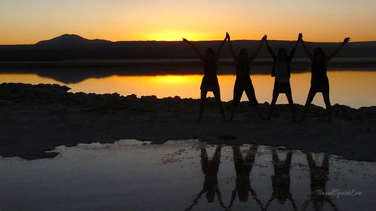 Fotoparade Laguna Cejar Atacama Wüste Sonnenuntergang