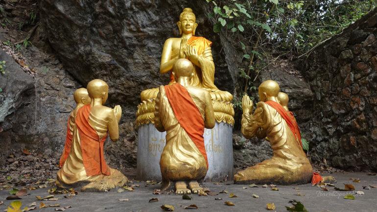Südostasien Rundreise Mount Phou Si Luang Prabang Buddha