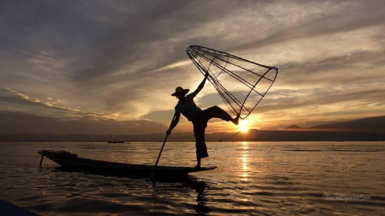 Südostasien Rundreise inle Lake Fischermann Myanmar