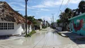 Isla Holbox geflutete Strassen
