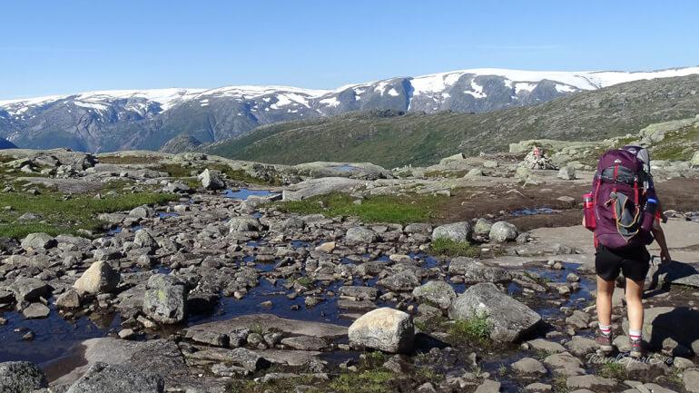 Zelten auf der Trolltunga Norwegen