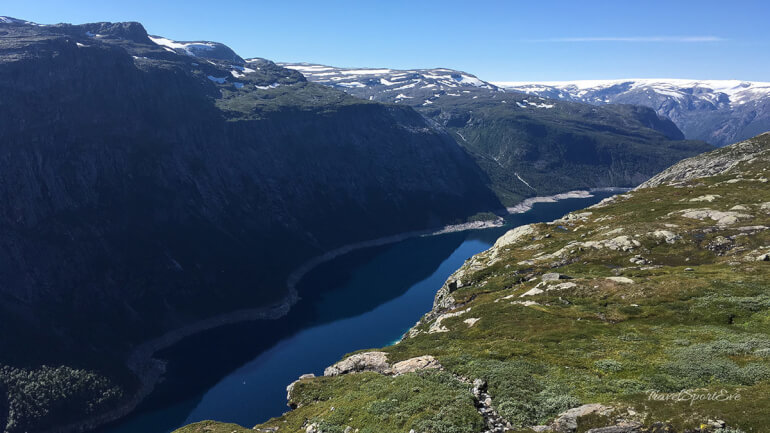 Trolltunga Norwegen Ausblick See