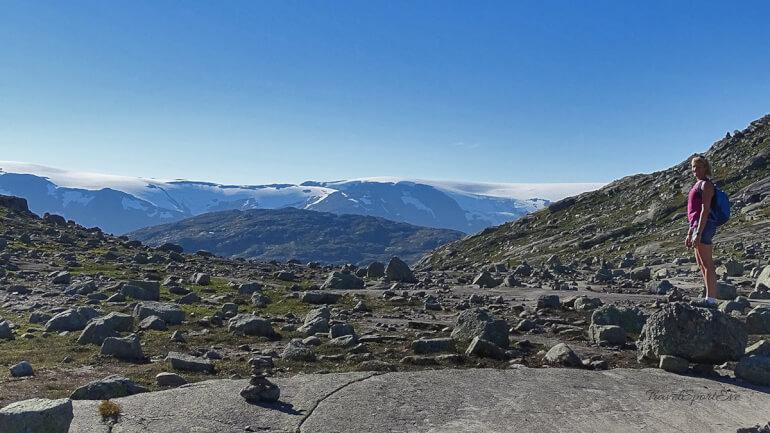 Trolltunga Norwegen Aussicht Schnee