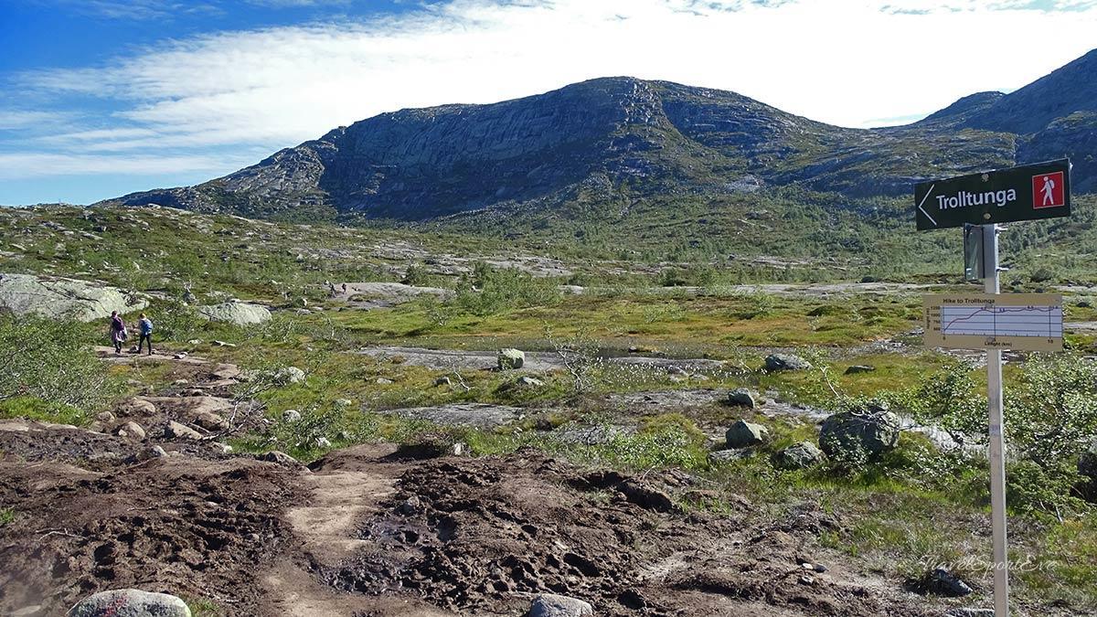 Trolltunga Norwegen Wanderer
