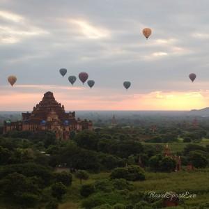 Myanmar Bilder Bagan Ballon