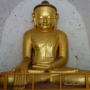 Myanmar Bilder Bagan Buddha Gold