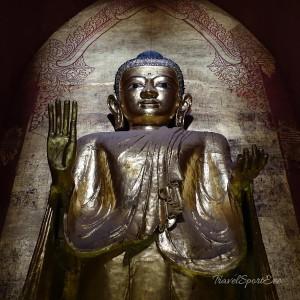 Myanmar Bilder Bagan Buddha Wand