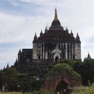 Myanmar Bilder Bagan Pagoda weiss