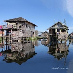 Myanmar Bilder Inle Lake Häuser