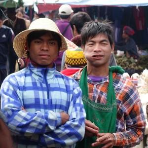 Myanmar Bilder Inle Lake Marktplatz