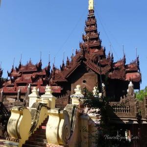 Myanmar Bilder Mandalay Shwenandaw Monastery