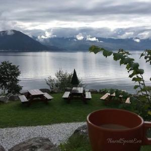 Norwegen Bilder Kaffee am Fjord