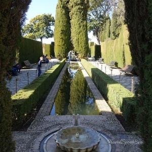 Generalife in der Alhambra in Granada