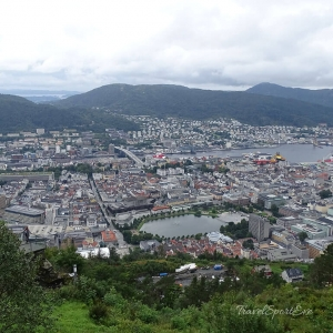Norwegen Bilder Bergen Aussicht Ulriken