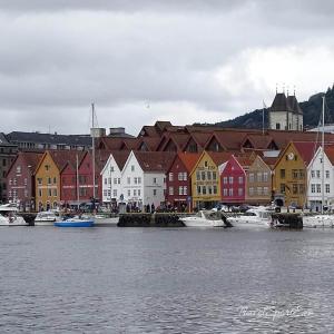 Norwegen Bilder Bergen Häuser Brygge