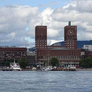 Norwegen Bilder Oslo Rathaus